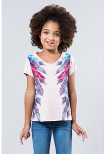Camiseta Reserva Mini Penas Laterais Feminina - Feminino