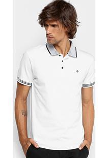 a0f0a07b7f Camisa Polo Forum Piquet Gola Contraste Masculina - Masculino-Branco
