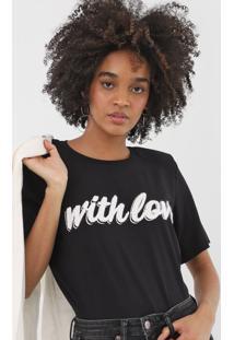 Camiseta Forum Lettering Preta