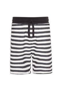 Bermuda Masculina Eco Stripes Knit - Preto