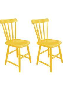 Conjunto Com 2 Cadeiras Espanha Amarelo