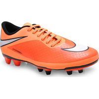 2104a379b8 Chuteira Masc Nike 599809-800 Hypervenom Phade Fg Laranja Neon Preto