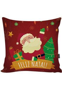 Capa Para Almofada Em Microfibra Papai Noel- Vermelha & Stm Home