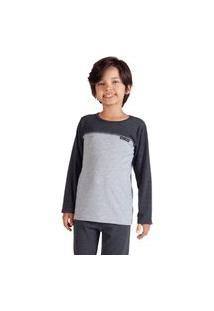 Pijama Duplo Mescla Infantil Menino - Toque Kids