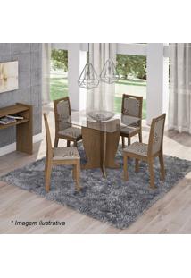 Conjunto De Mesa & Cadeiras Luana Para 4 Lugares- Savanacimol
