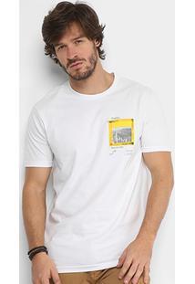 cca665569 Camiseta Calvin Klein Estampada Masculina - Masculino-Branco