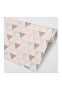 Papel De Parede Geométrico Triângulos Lilás 3M Gráo De Gente Rosa