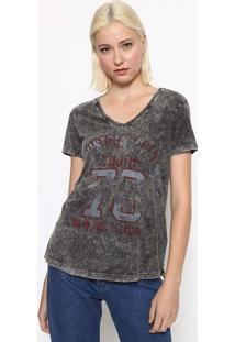 "Camiseta ""Industrial"" - Cinza & Vermelho Escurocalvin Klein"