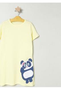Camisola De Panda - Amarela & Azulpuket