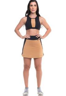 Conjunto Top+ Shorts Saia Sandy Fitness Feminino - Feminino