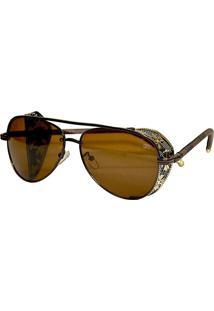 Óculos Aviador Proteção Metal Flores