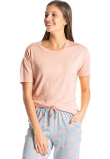 Pijama Cropped Com Bolso Zen Dots