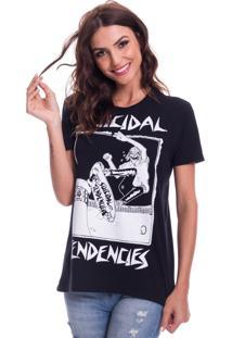 Camiseta Jazz Brasil Suicidal Tendencies Preta - Preto - Feminino - Algodã£O - Dafiti