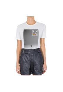 Camiseta Forseti Pet Surfing Branca