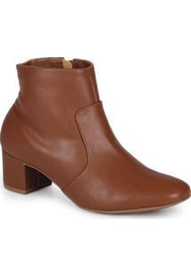 Ankle Boots Feminina Lara Clássico Marrom