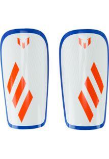 Caneleira De Futebol Adidas Lesto Messi - Adulto - Branco/Azul