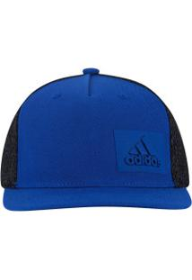 d46e9ee22237a Boné Aba Reta Adidas H90 - Snapback - Trucker - Adulto - Azul Preto
