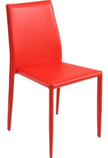Cadeira Pvc Amanda-Rivatti - Vermelho