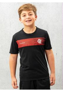 Camiseta Infantil Flamengo Shut Preta