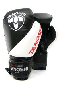 Luva Boxe Tanoshi 08 - 18 Oz Kvx Pto/Bco - Tanoshi