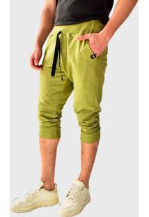 Bermuda Moletom Saruel Skinny Brohood Verde Claro - Verde/Verde Militar/Verde Oliva - Masculino - Algodã£O - Dafiti