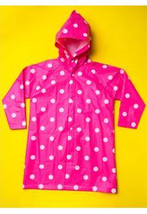 Capa De Chuva Infantil Puket Poa Feminina - Feminino-Pink