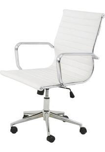 Cadeira Sevilha Eames Baixa Cromada Pu Branco - 8748 Sun House