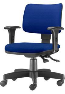 Cadeira Zip Assento Crepe Azul Base Rodizio Metalico Preto - 54456 - Sun House
