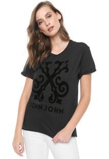 Camiseta John John Floco Grafite