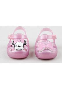 Sandália Infantil Grendene Minnie Com Glitter Rosa