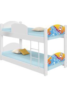 Beliche Infantil Surfista Casah - Azul/Branco - Menino - Dafiti