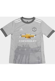 Camisa Manchester United Infantil Third 17/18 - S/N Torcedor Adidas - Masculino
