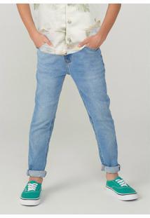 Calça Hering Em Jeans Skinny Azul - Kanui