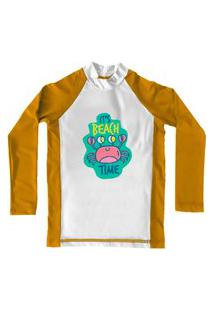 Camiseta De Lycra Comfy Beach Time Amarela