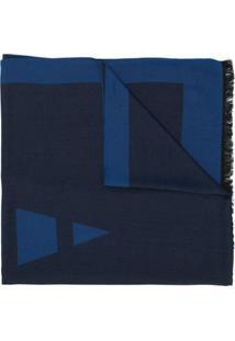 Emporio Armani Cachecol Com Padronagem - Azul