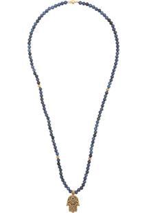Nialaya Jewelry Colar Hamsa Com Pingente - Azul