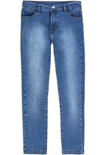 Calça Jeans Infantil Menino Com Lavação E Bolso Hering Kids