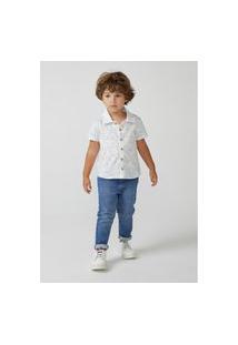 Camisa Hering Infantil Em Tecido Toddler Off White