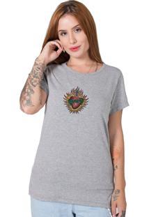 Camiseta Sagrado Corazon Cinza Stoned