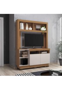 Estante Para Tv Até 46 Polegadas 2 Portas Âmbar Colibri Móveis Natural Real/Off White