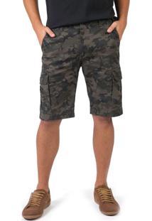 Bermuda Camuflada Verde Militar