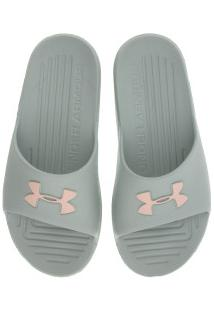 Chinelo Under Armour Core - Slide - Feminino - Verde Claro