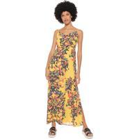df972a7ba5 Dafiti. Vestido Redley Longo Bricks Amarelo