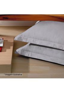 Fronha Platine- Cinza- 70X50Cm- 300 Fiosbuettner