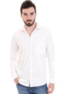 Camisa Veludo Cotelê 2991 Branco