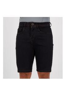 Bermuda Jeans Hang Loose Dark Preta