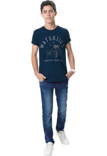 Calça Jeans Slim Menino Malwee Kids Azul Escuro - 1