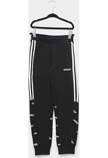 Calça Infantil Adidas Core Favorites Masculina - Masculino-Preto+Branco