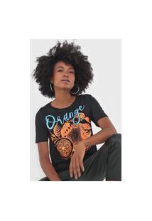 Camiseta My Favorite Thing(S) Orange Preta