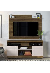 Rack Bancada Para Tv 55 Pol Colibri Yara Canela Rústico E Off White